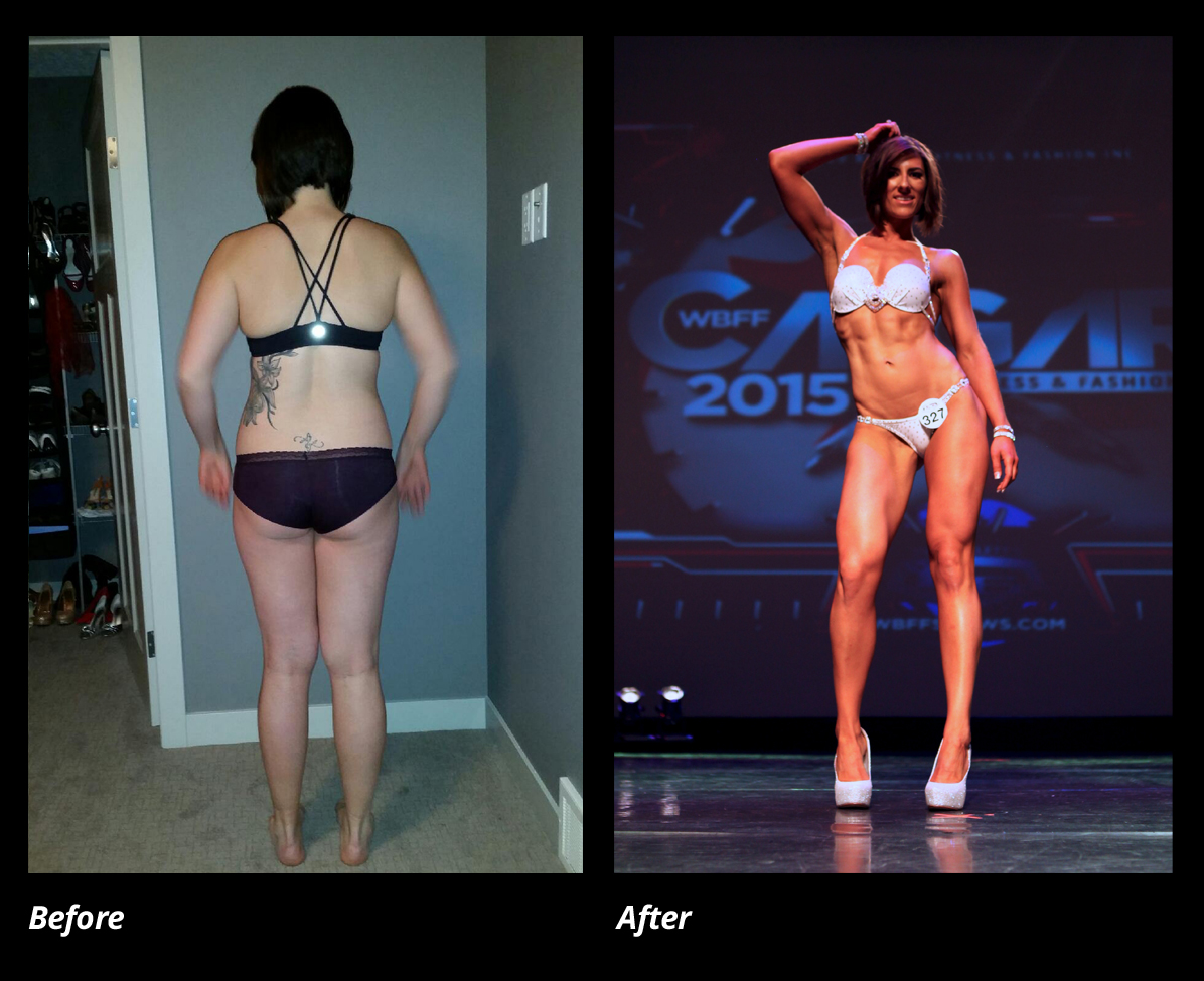 Before and After Training with Fitedie - Justine Reiter