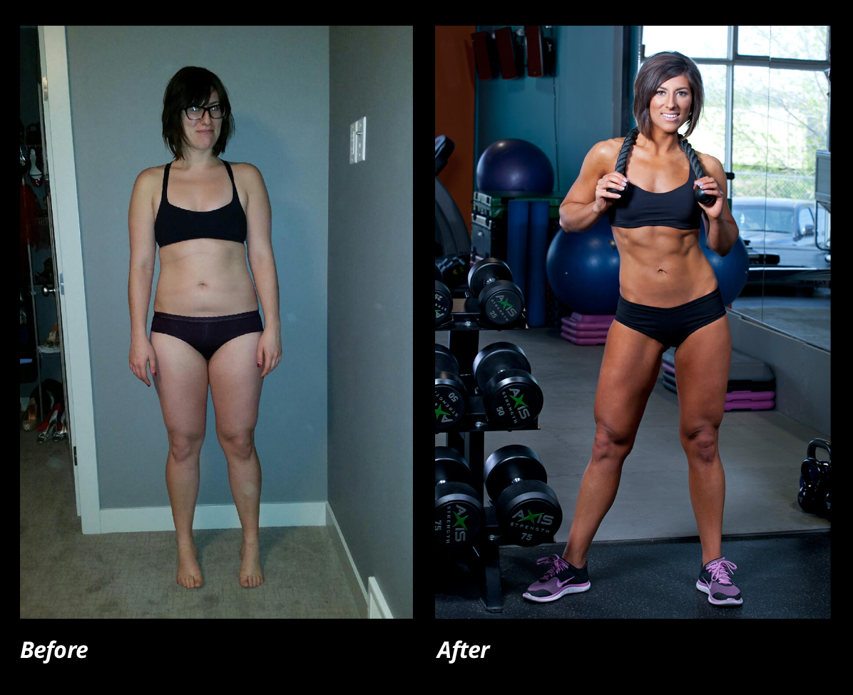 Justine Reiter Before and After Training with Fitedie
